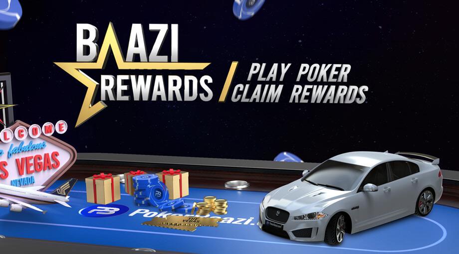 Baazi poker loyalty program for poker players.